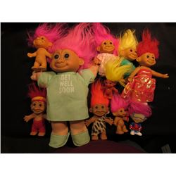 "(10) Old Collectable ""Troll"" Dolls, for the little Troll in all of us!!!"