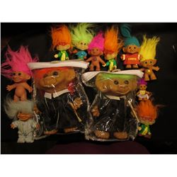 "(12) Old Collectable ""Troll"" Dolls, for the little Troll in all of us!!!"