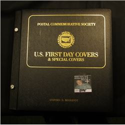 "Large Black Album with Gold lettering ""Postal Commemorative Society U.S. First Day Covers & Special"