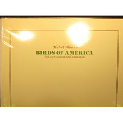 "Large Fleetwood Album ""Michael Warren's Birds of America First Day Covers with Artist's Sketchbook""."