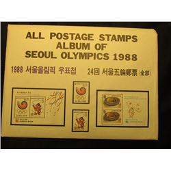 Collection of 1988-1996 Olympic First Day Covers in a three-ring notebook.