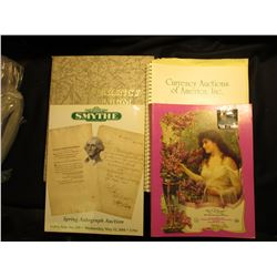 "May 11 1991 ""Currenmcy Auctions of America, Inc."" Catalog, spiral binding; ""Smythe Spring Autograph"