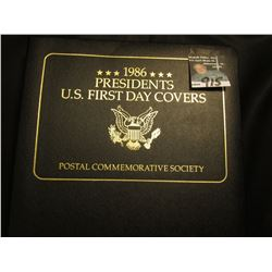 """1986 Presidents U.S. First Day Covers"" Postal Commemorative Society, complete through Ronald Reagan"