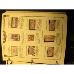 """The American Commemorative Stamp Album 1893-1960"", Minkus. Beginning in 1935 almost every stamp in"