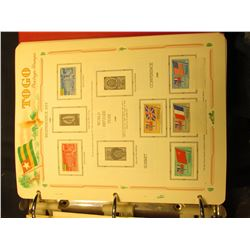 Huge collection of 'TOGO' Stamps. 'Doc' has written inside the cover that this collection had a 1975