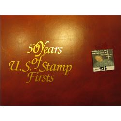 "Large Album with Mint Stamps and First Day Covers ""50 Years of U.S. Stamp Firsts"""