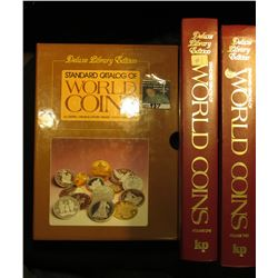 "Cased pair of ""Deluxe Library Edition Standard Catalog of World Coins Volume One (&) Two"", c.1985."