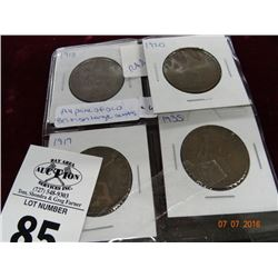 A 4 Pack of Old British Large Cents