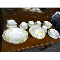 "Meito China ""Langdon Pattern"" 17 Pieces"