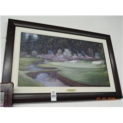 Framed Augusta #13 Hole Print