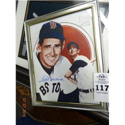Framed Autographed Ted Williams