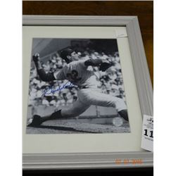 Framed Autographed Sandy Koufax Photo
