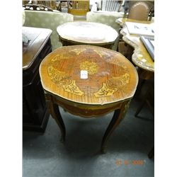 2 Brass Accent Round Tables  - 2 Times the Money