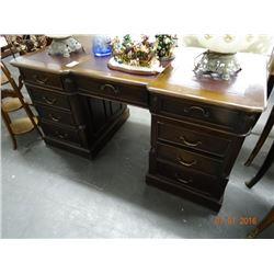 Leather Inset Kneehole Desk