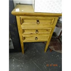 Oak 3 Drawer Cabinet