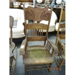 Carved Spindle Back Rocker