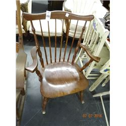 Carved Spindle Back Padded Rocker