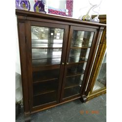 Mahogany Empire Glass 2 Door Curio