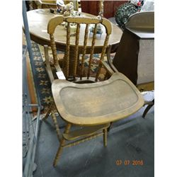 Early Wood High Chair