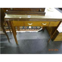 Enamel Top Slide Leaf Kitchen Table