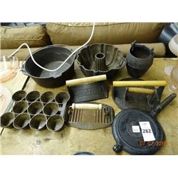 Lot of Cast Iron Pot, Cake Pans & More - No Shipping