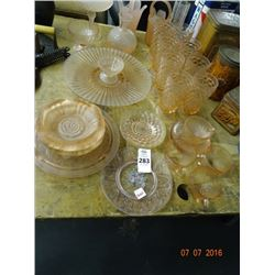 Lof of Pink Depression Glass Set - No Shipping