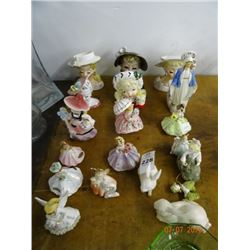 Lot of Hand Painted Japan Figures