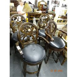 4 Swivel Bar Stools w/Web Accent - 4 Times the Money