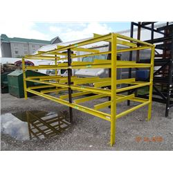 Yellow Steel Appx. 8' T x 18' W x 6' D Stock Rack - Welded Frame