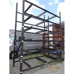 Black Steel Appx 15' T x 12' W x 5' D Stock Rack - Welded Frame