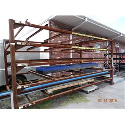 Steel Appx. 10' T x 20' W x 10' D Stock Rack - Welded Frame