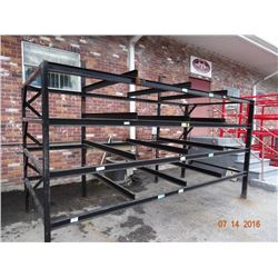 Black Steel Appx. 7' T x 14' W x 6' D Stock Rack  - Welded Frame