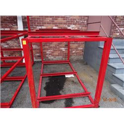 Red Steel Appx. 5' T x 9' W x 4' D Stock Rack - Welded Frame