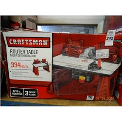 Craftsman Router Table - Return