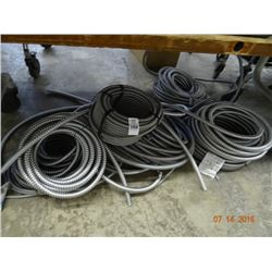 Lot of Metal Flexible Conduit