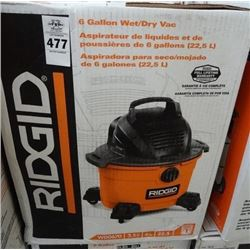 Ridgid 6 Gallon Shop Vac - Return