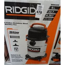 Ridgid 6 Gallon S/S Shop Vac - Return