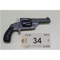 SMITH & WESSON , MODEL: 38 SINGLE ACTION SECOND MODEL , CALIBER: 38 S&W