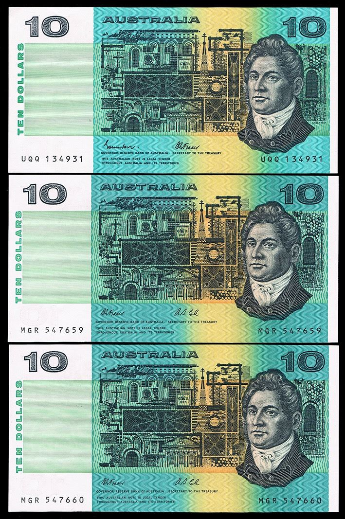 Image 1 Australia Ten Dollars Johnston Stone 1985 Fraser