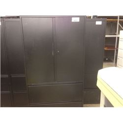 Herman miller meridian black 6 39 tall cabinet with 3 drw for Meridian cabinet doors