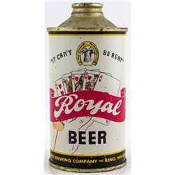 Royal Beer Cone Top Beer Can