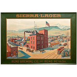 Reno Brewing Co. Tin Sign