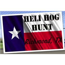 2-hour Texas Helicopter Hog Hunt for Two Shooters