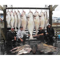 1-full Day Alaska Halibut Fishing Charter and 2-night Lodging at Seward Military Resort