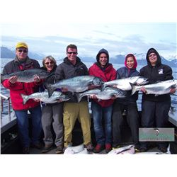 1-full day Alaskan Guided Fishing Charter for Twelve Anglers