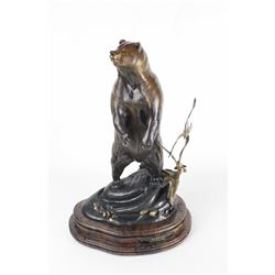 """Kodiak,"" Limited Edition Bronze Art Piece by Frank Entsminger"