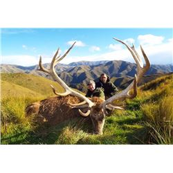 4-day New Zealand Red Stag Hunt for One Hunter and One Observer