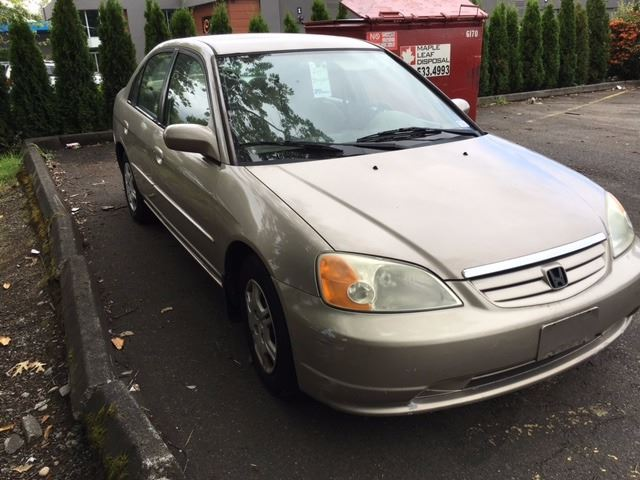 ... Image 2 : 2001 HONDA CIVIC LX, 4 DOOR SEDAN, BROWN, VIN #