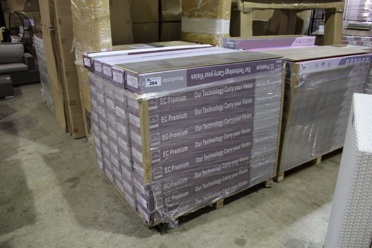 Image 2 Pallet Of Ec Premium Dark Grey Laminate Flooring