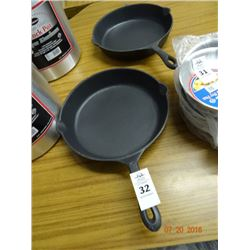 "Cast Iron Fry Pans - 12 "" - 2 Times the Money"